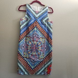 LONDON STYLE COLLECTION Tribal Print Dress